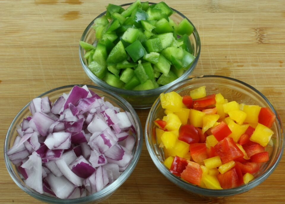 Chopped up Peppers