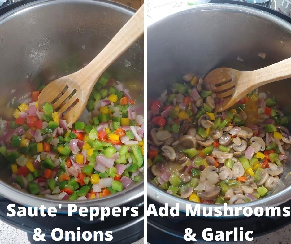 Saute Peppers Onions