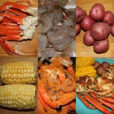 Snow Crab And Shrimp Boil With Old Bay Seasoning In Only