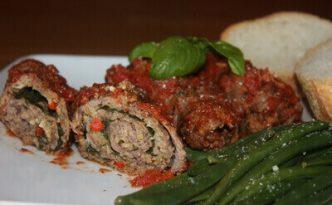 Italian Beef Braciole Dinner
