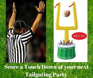 Score a Touch Down at your next Tailgating Party