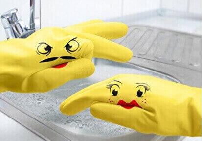 Hand-Puppet Dish Gloves_ Dishplay Washglove Pupets