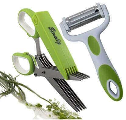 Herb Scissors And Multipurpose Peeler