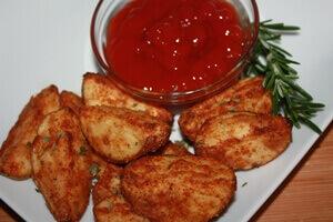 Crispy Oved Baked Potato Wedges