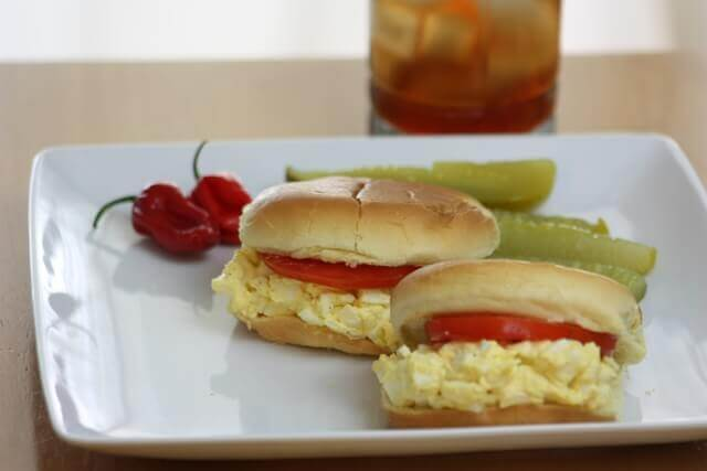 Egg Salad on a Roll
