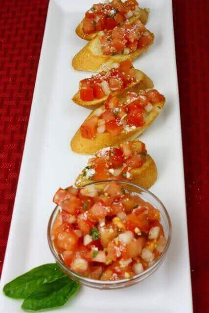 What is in Bruschetta