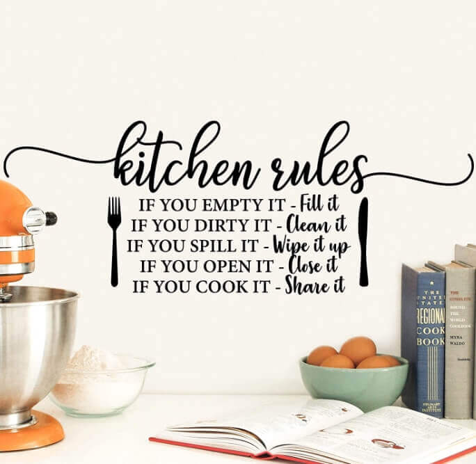 Wall Decals Kitchen Rules TWO