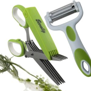Kitchen Shear Gadgets with Cover and Cleaning Comb