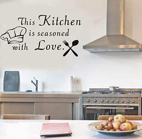 This Kitchen is Seasoned with Love Funny Kitchen Wall Decals