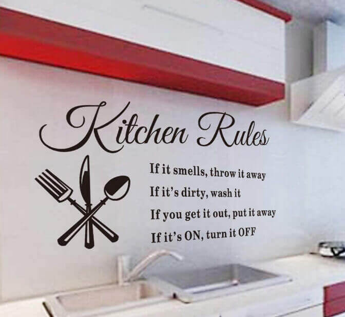 Wall Decals Kitchen Rules