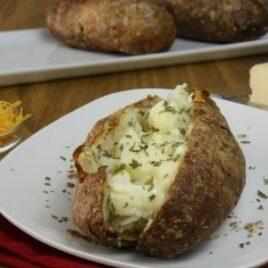 Delicious Crispy Baked Potato