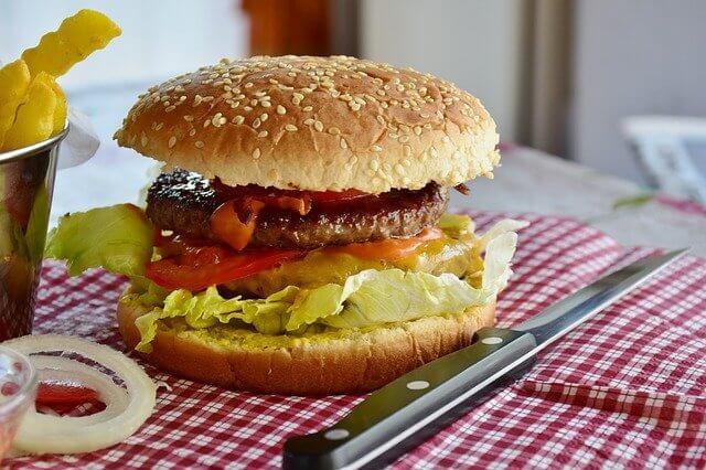 Hamburger on T-Fal Grill