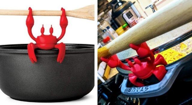 Unusual Kitchen Gadgets Crab Spoon Holder