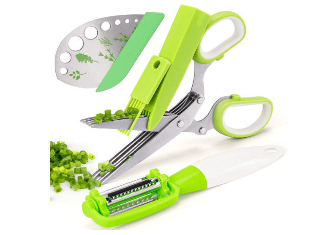 Kitchen Tools and Gadgets for Herb Scissors Leaf Herb Stripper