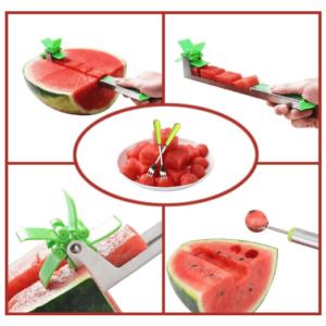 Watermelon Slicer Cutter Stainless Steel Windmill